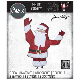 Sizzix Thinlits - Papercut Christmas #1 Colorize by Tim Holtz