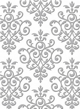 Couture Creations 5 x 7 Embossing Folder - Lovingly Baroque