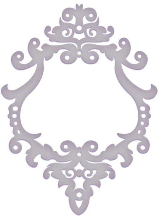 Couture Creations 5 x 7 Embossing Folder - Super Marina