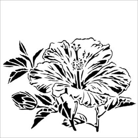 Crafter's Workshop - Hibiscus 6 x 6 Stencil