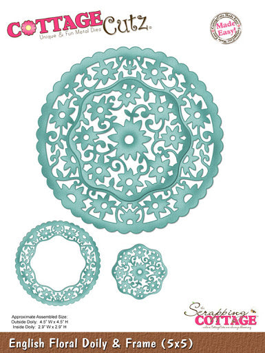 Cottage Cutz - English Floral Doily & Frame