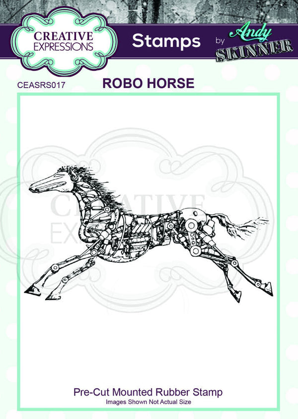 Andy Skinner Rubber Stamp - Robo Horse