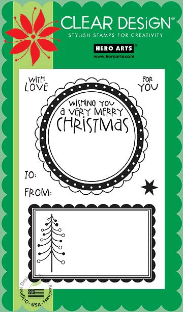 Hero Arts Clear Stamp Set - Large Christmas Tags