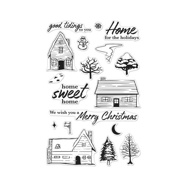 Hero Arts Clear Stamp Set - Home for the Holidays