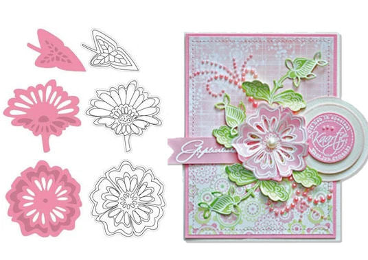 Marianne Design Collectables - Two Flowers & Leaf