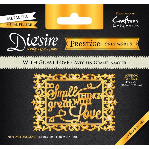 Die'sire Prestige Die Collection - With Great Love