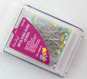 Fine Glass Headed Quilting Pins