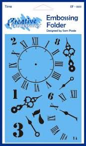 Creative Expressions 5 x 7 Embossing Folder - Time