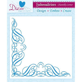 Embossalicious 8 x 8 Embossing Folder - Chantilly Lace