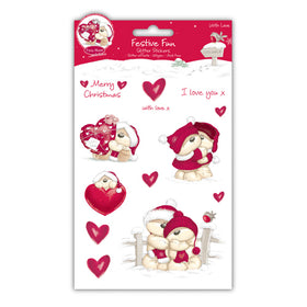 Fizzy Moon Festive Fun Glitter Stickers - With Love