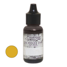 Tim Holtz Distress Archival Re-inker - Fossilized Amber