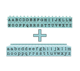 PEGZ American Typewriter Font - Medium Upper & Lower Case Set