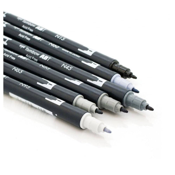 Tombow Dual Brush Pen Set - Grey