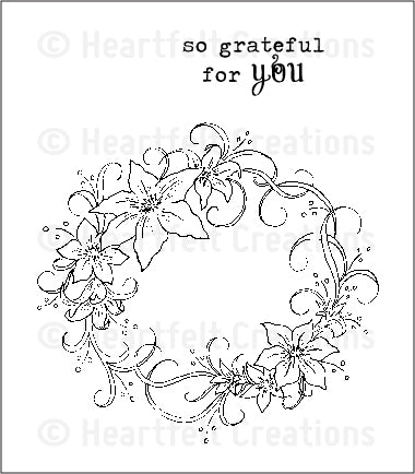 Heartfelt Creations Botanical Oval Pre-cut Stamp Set