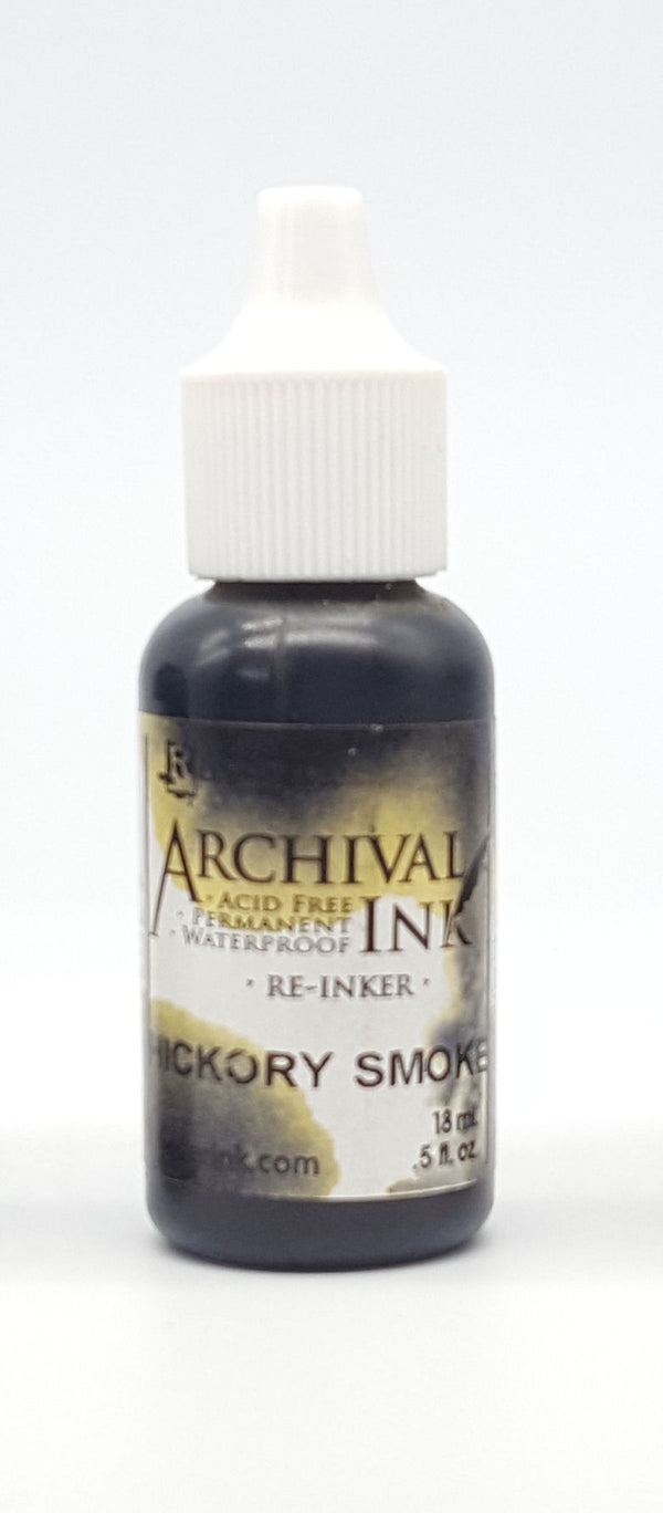 Tim Holtz Distress Archival Ink Re-Inker - Hickory Smoke (CASUALTY)