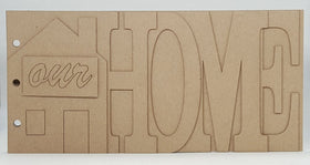 Heart of Texas Chipboard Word Album - Home