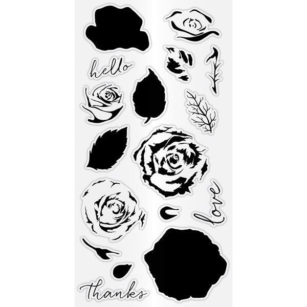 Hampton Art Clear Layering Stamp Set - Roses