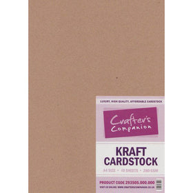 Crafters Companion Kraft Card A4 (Pack of 50 Sheets)