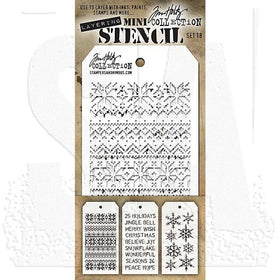 Tim Holtz Layering Stencil - Mini Stencil Set #18