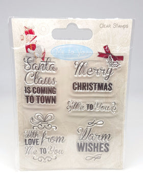 Me to You Clear Stamp - Warm Wishes Sentiments
