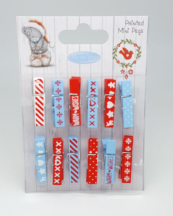 Me to You Printed Mini Pegs