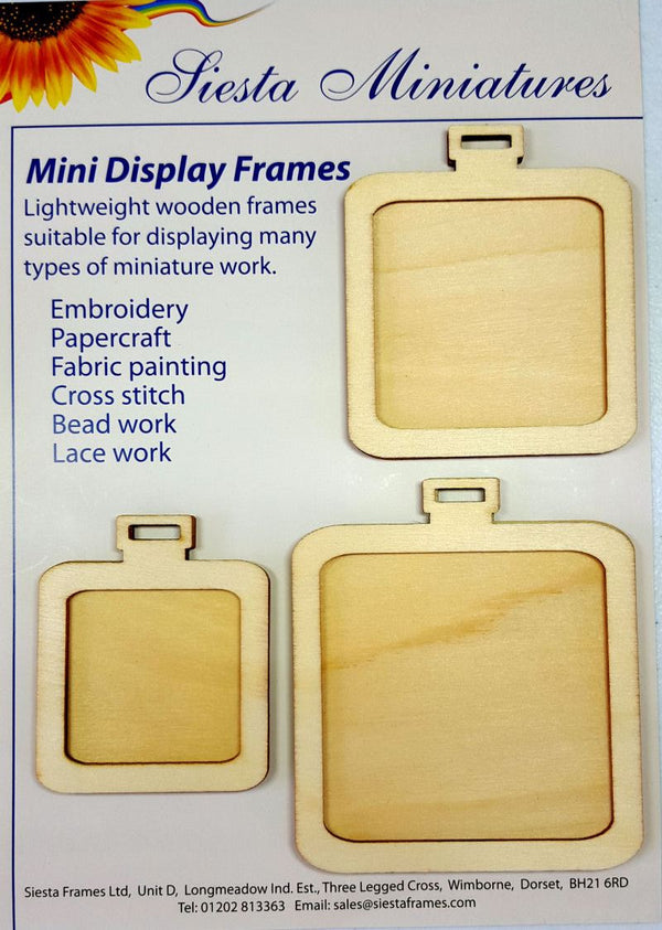 Miniature Wooden Frames - Squares