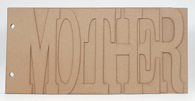 Heart of Texas Chipboard Word Album - Mother
