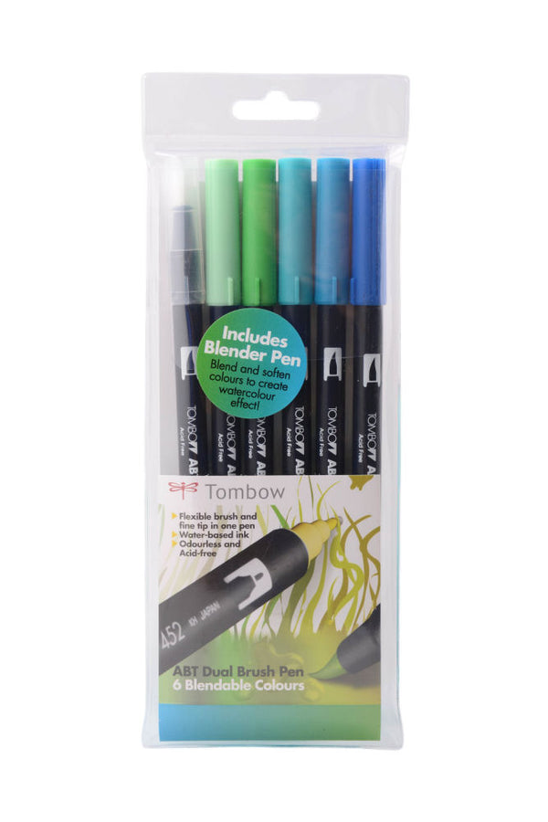Tombow Dual Brush Pen Set - Ocean