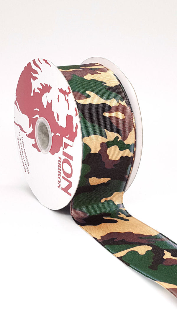Offray Polyester Hiding Out Camouflage Ribbon 1.5