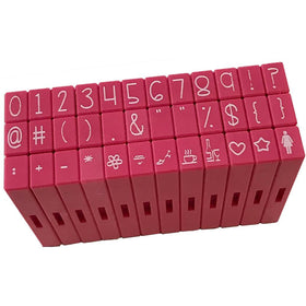 Pink & Main Clickable Numbers & Symbols Stamps Set - 36 pc