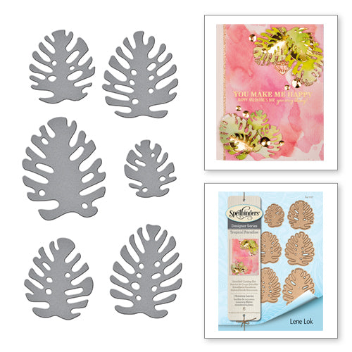 Spellbinders Designer Series Tropical Paradise - Monstera Leaves