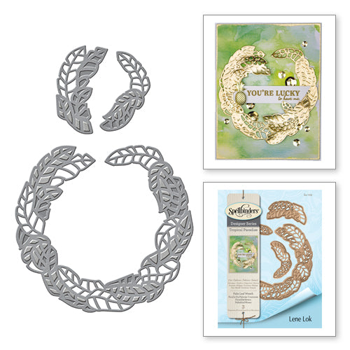 Spellbinders Designer Series Tropical Paradise - Palm Leaf Wreath