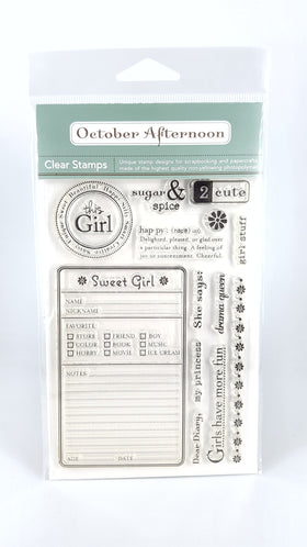 October Afternoon - All Girl Stamp Set