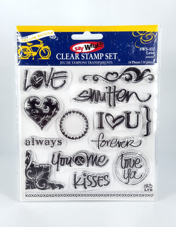 Little Yellow Bicycle - Love Stamp Set