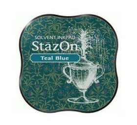 StazOn Midi Ink Pad - Teal Blue