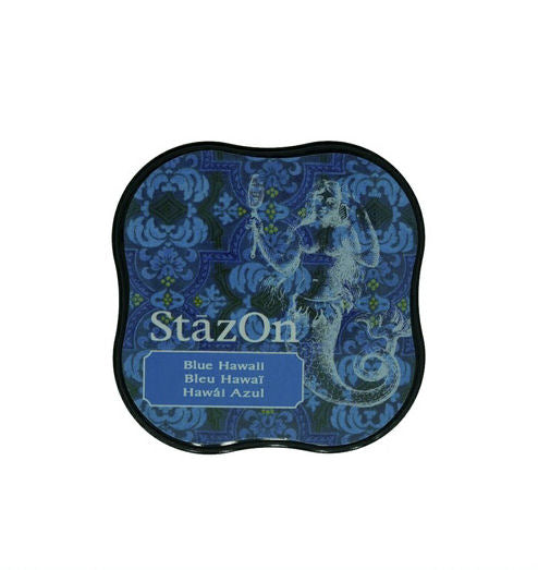 StazOn Midi Ink Pad - Blue Hawaii