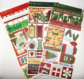 Bo Bunny Christmas Cardstock Sticker Bundle