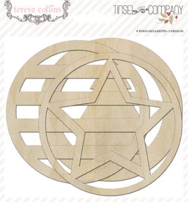 Teresa Collins Tinsel & Craft; Company Wood Ornaments (6pk)