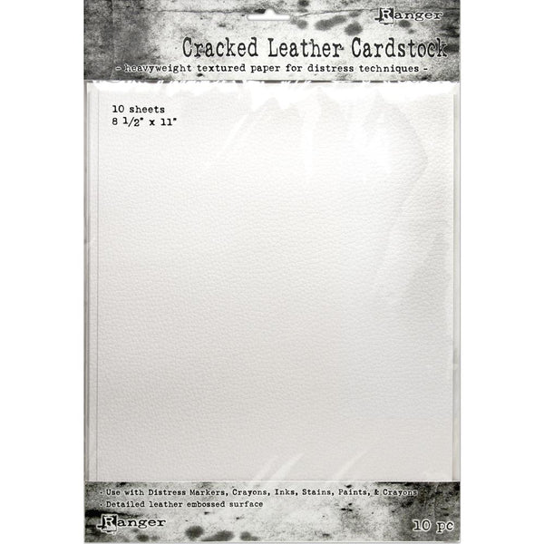 "Tim Holtz Distress Cracked Leather Cardstock 10/Pkg - 8.5"" x 11"""