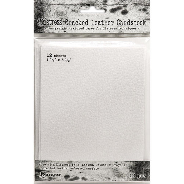 "Tim Holtz Distress Cracked Leather Cardstock 12/Pkg - 4.25"" X 5.5"""