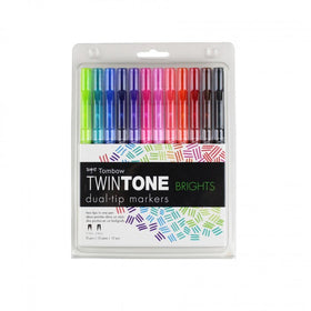 Tombow TwinTone Marker Set - Brights