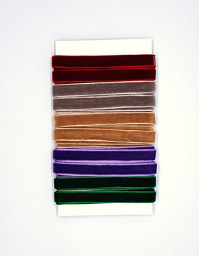 May Arts Velvet Trim - Assorted Colours (5 yards)