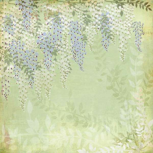 BasicGrey Wisteria Collection - Gazebo Paper
