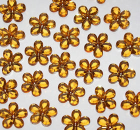 Flower Crystals - Amber