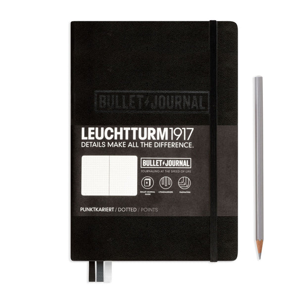 Leuchtturm1917 Medium A5 Dotted Bullet Journal - Black