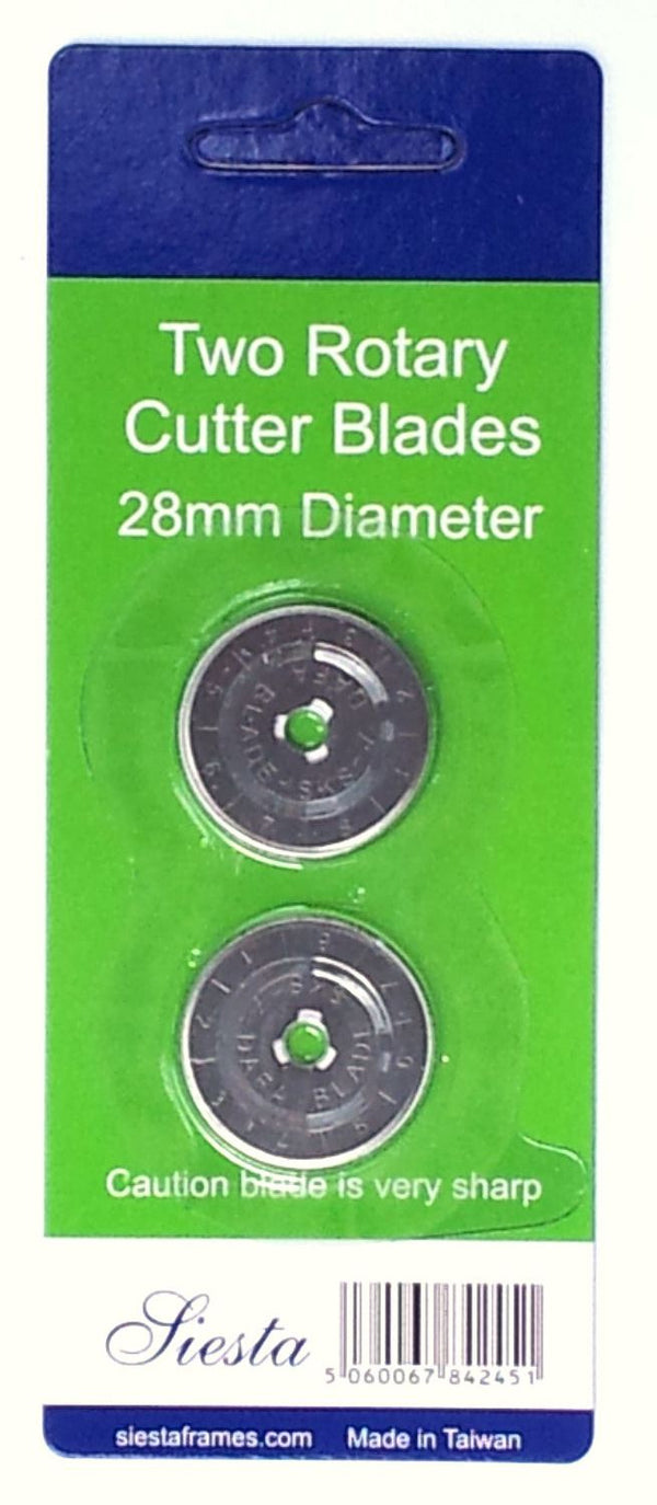 28mm Rotary Cutter Spare Blades (x2)
