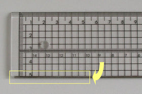 Acrylic Metal Edge Ruler