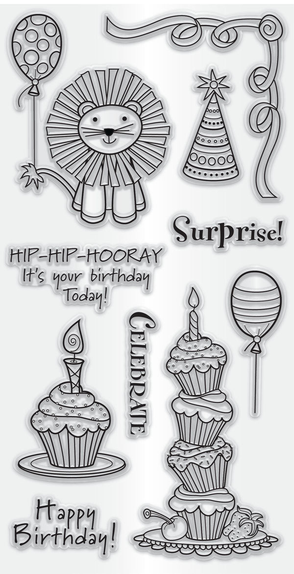 Hampton Art Clear Stamp Set - Happy Birthday