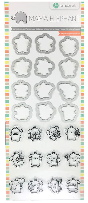 Hampton Art Mama Elephant Clear Stamp & Die Set - Mini Dog Agenda