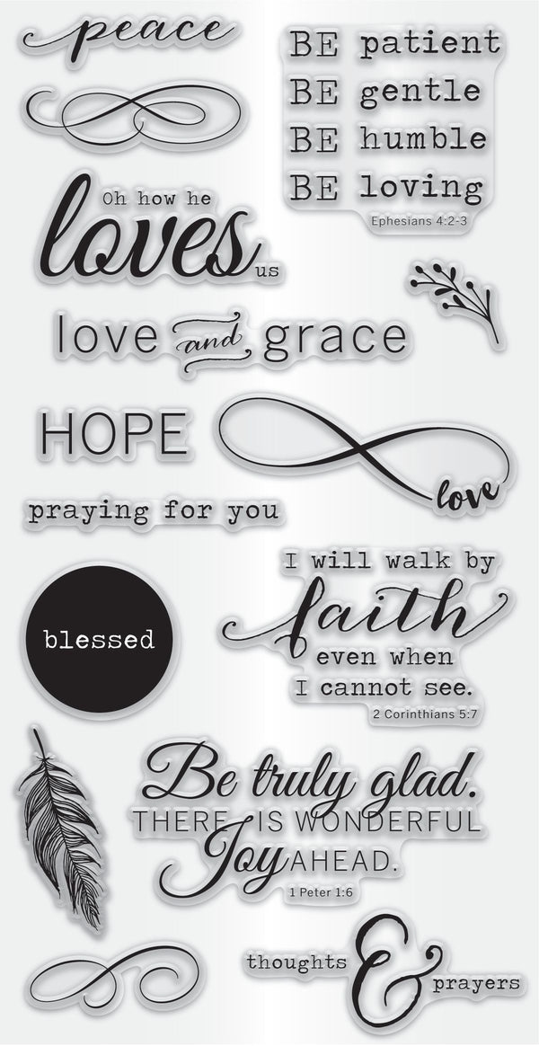 Hampton Art Clear Stamp Set - Faith
